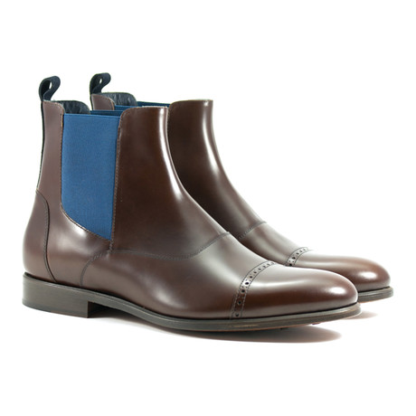 Chelsea Boot // Brown + Blue (US: 6)