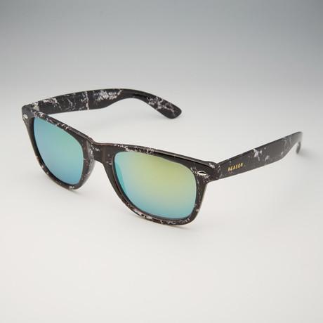 Madison Sunglasses // Black Marble + Gold
