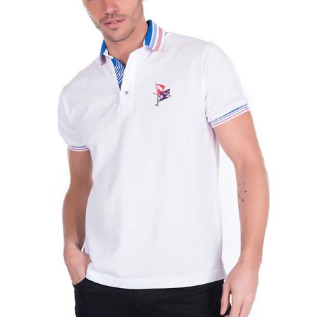 Tilki Short-Sleeve Polo // White