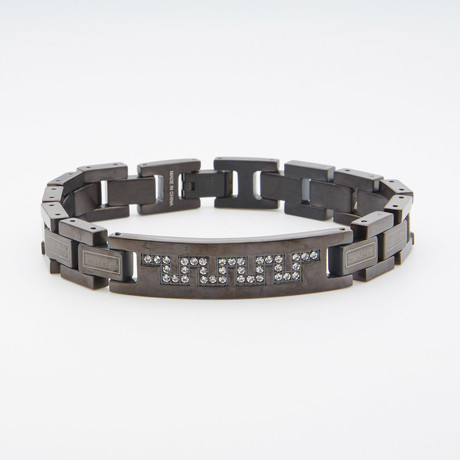 Greek Key Bracelet // Black