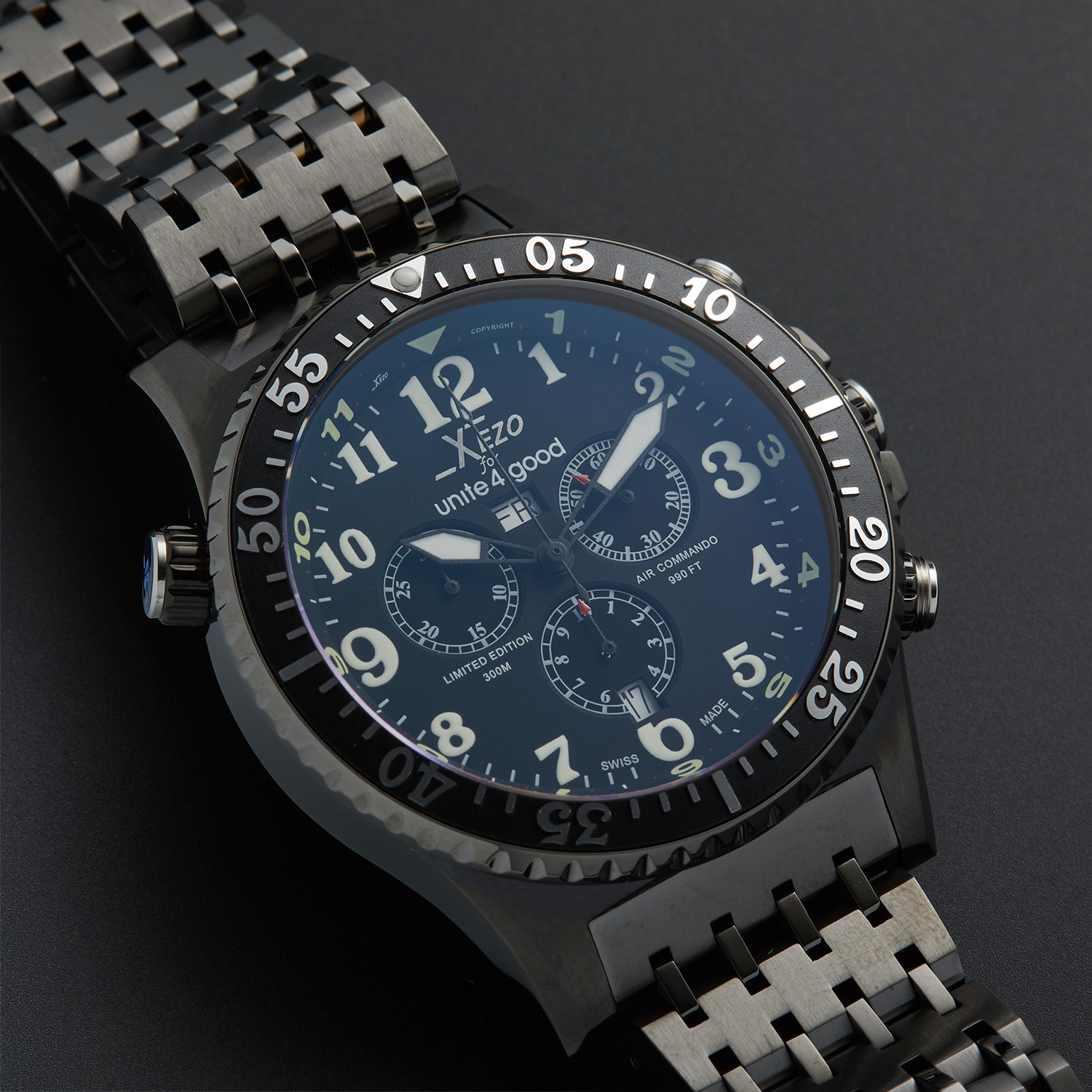 Xezo air commando chronograph quartz d45 b xezo touch of modern for Xezo watches