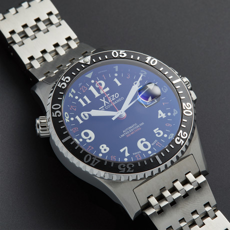 Xezo Air Commando Dive and Pilot GMT Automatic // D45-R