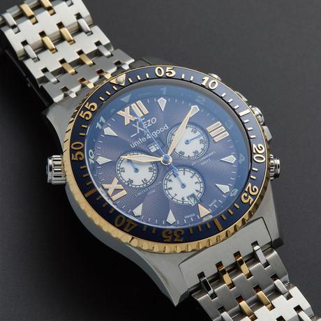 Xezo Air Commando Luxury Sport Chronograph Quartz // D45-BU