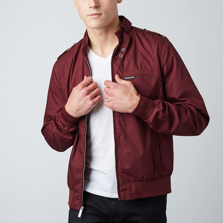 Iconic Racer Jacket // Burgundy (S)