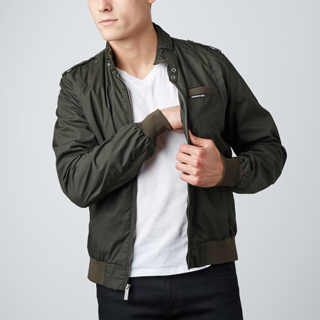 Iconic Racer Jacket // Dark Green (S)