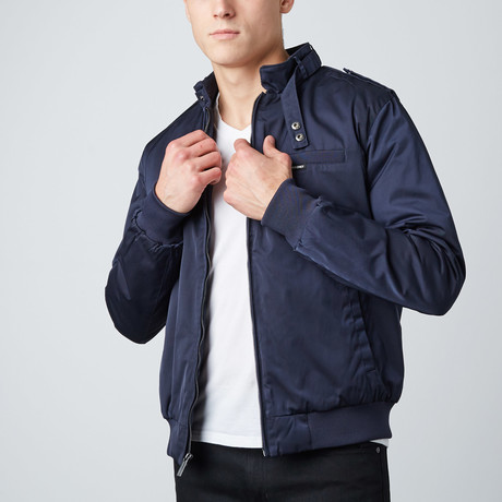 Twill Iconic Racer Jacket // Navy (S)
