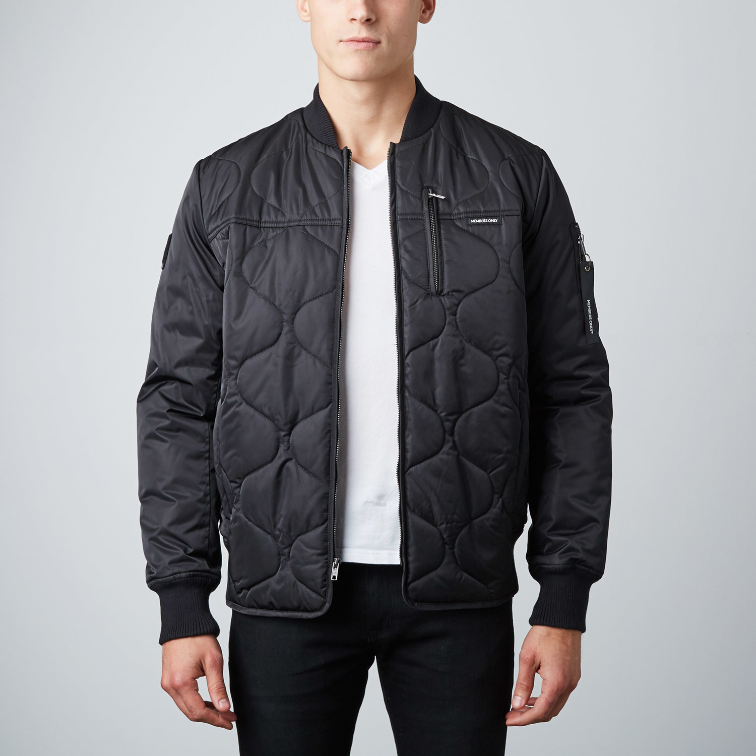 b1f3ec2861d957 Black Oval Quilted Bomber    Black (S) - Members Only - Touch of Modern