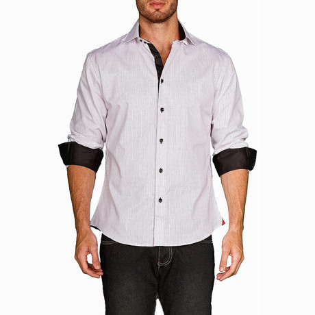 Daniel Long-Sleeve Button-Up Shirt // White (XS)