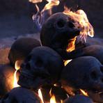 Ceramic Tarred Skull (Single)