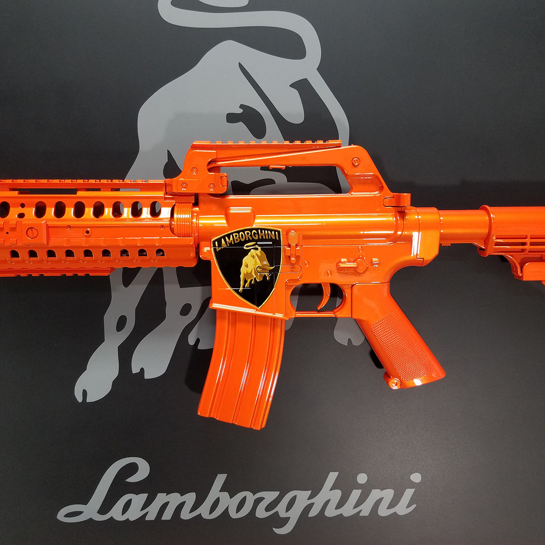 Lamborghini For Sale Ny: Lamborghini Gun Art // Orange Pearl