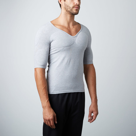 Padded Muscle Shirt // Grey (S)