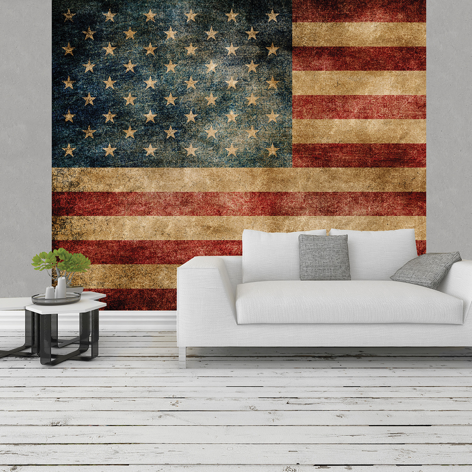 Stars and stripes wall mural brewster home fashions for Brewster birch wall mural