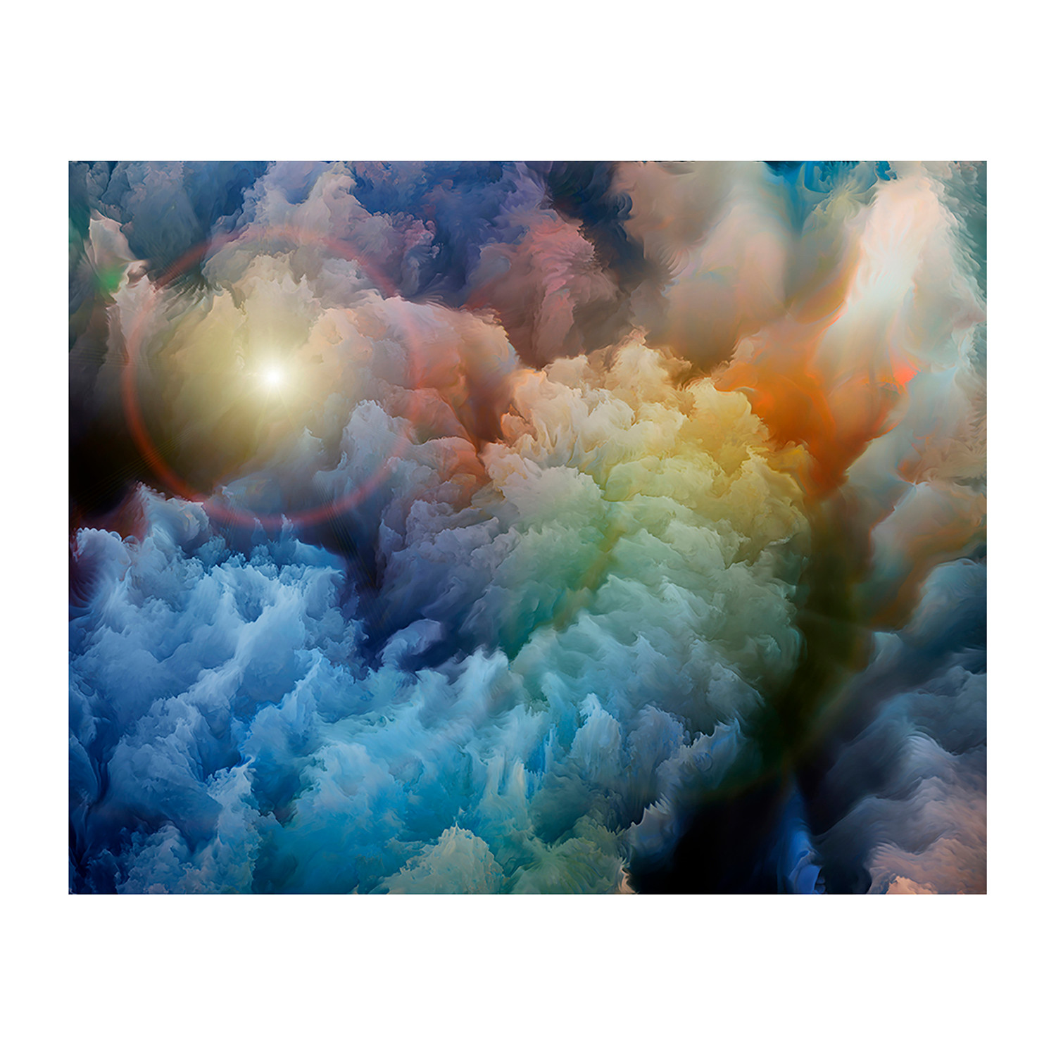 Moody clouds wall mural brewster home fashions touch for Clouds wall mural