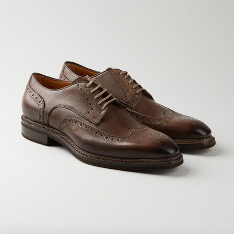 Medallion Wing-Tip Derby // Coffee Brown (Euro: 39.5)