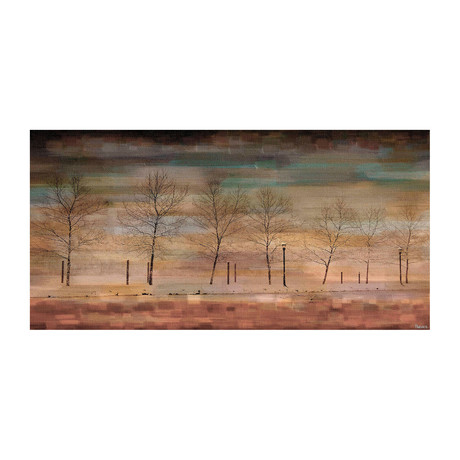 Warm Tree View Painting Print // Canvas