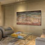 "Warm Tree View Painting Print // Canvas (24""W x 12""H x 1.5""D)"