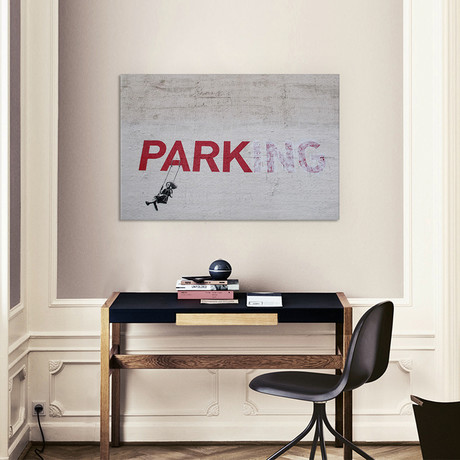 "Parking Girl Swing (18""W x 26""H x 0.75""D)"