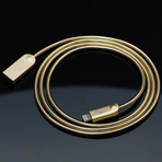 ODIN Charging Cable // Metallic Gold (Apple Lightning // 3.3 ft)