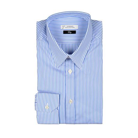 Thick Stripe City Fit Dress Shirt // Light Blue
