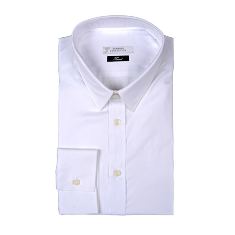 Solid Trend Fit Dress Shirt // White