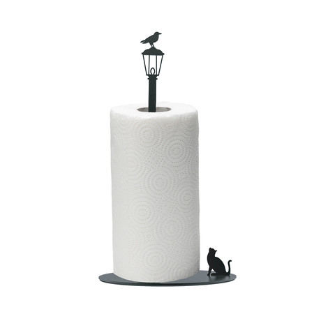 Cat Vs. Crow // Paper Towel Holder