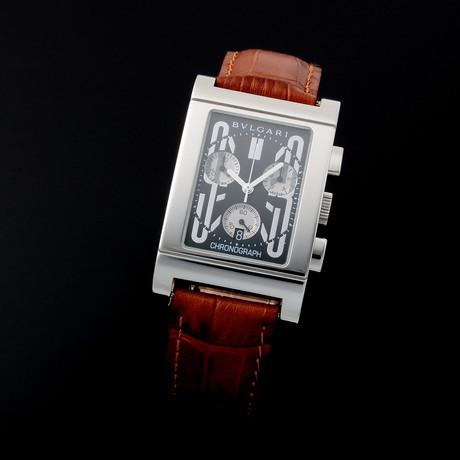 Bvlgari Rettangolo Chronograph Date Quartz // RT49CH // c. 2000s // Pre-Owned