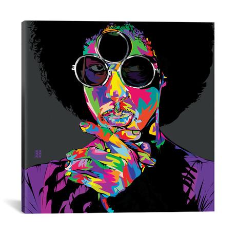 """Purple Rain (18""""W x 18""""H x 0.75""""D)"""