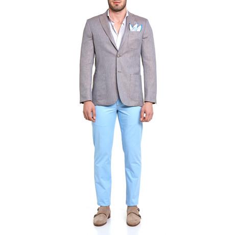 17304 Tweed Surface Blazer // Brown