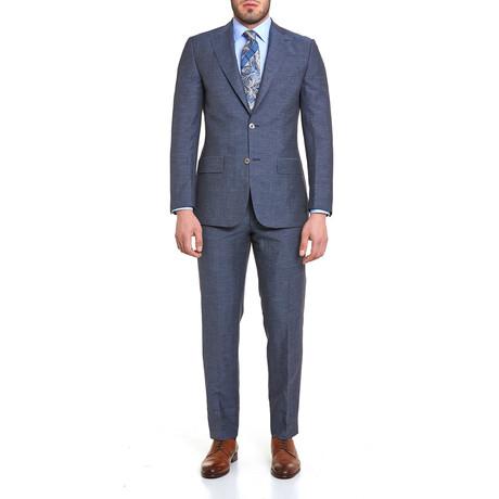17105 Lacivert Tweed Suit // Dark Blue
