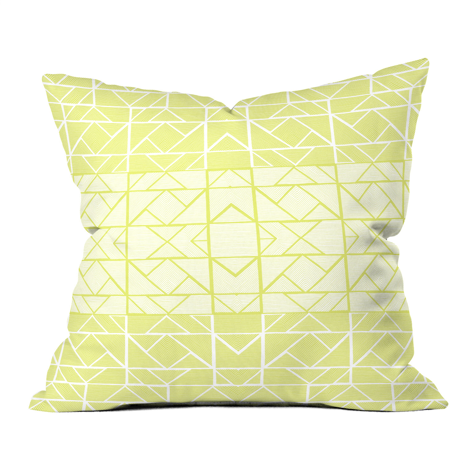 Shifting Pyramids Yellow // Throw Pillow (Small) - Gneural For DENY Designs - Touch of Modern