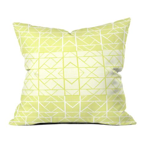 Shifting Pyramids Yellow // Throw Pillow