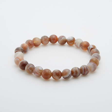 Botswana Agate Beaded Bracelet // Multicolor