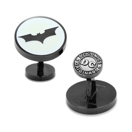 Dark Knight Batman Signal Glow In The Dark Cufflinks