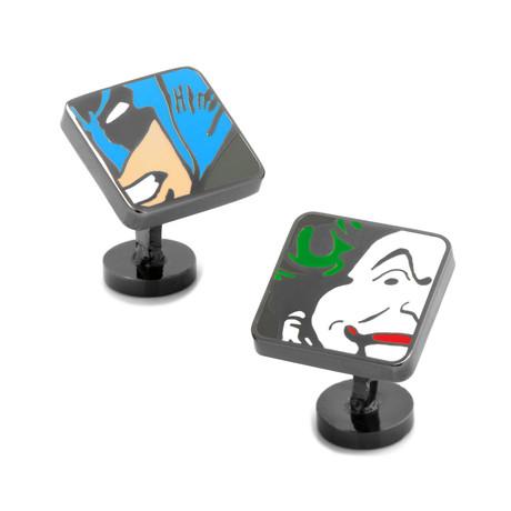 Batman + Joker Mash Up Cufflinks