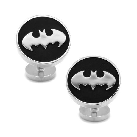 Recessed Black Batman Cufflinks