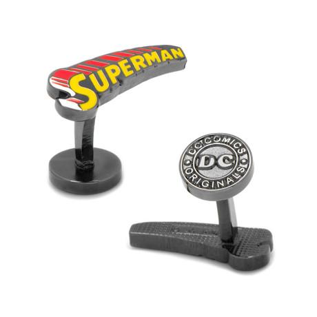 Vintage Superman Comic Book Cufflinks