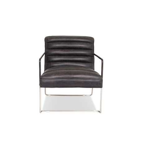 Kennedy Modern Leather Lounge Chair