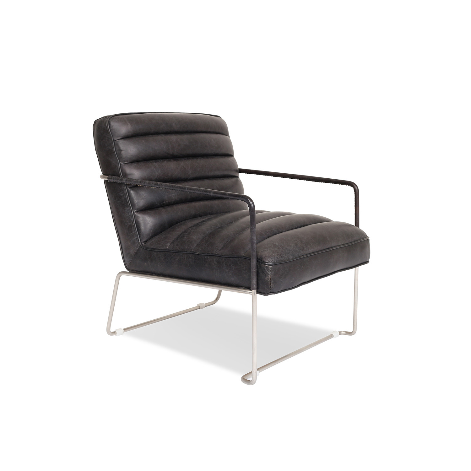kennedy modern leather lounge chair edloe finch touch of modern