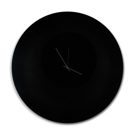 Blackout Circle Clock // Black Hands (Small)