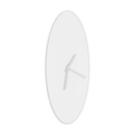 Whiteout Ellipse Clock // White Hands