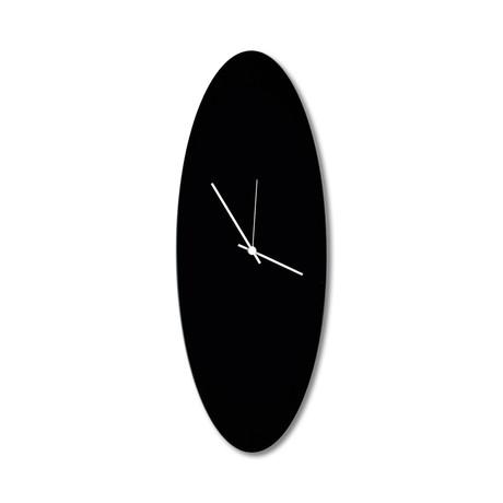Blackout Ellipse Clock // White Hands (Small)