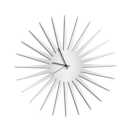 MCM Starburst Clocks // White (Black Hands)