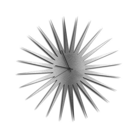 MCM Starburst Clocks // Silver (Black Hands)
