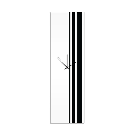 Black Triple Stripe Clock // Adam Schwoeppe