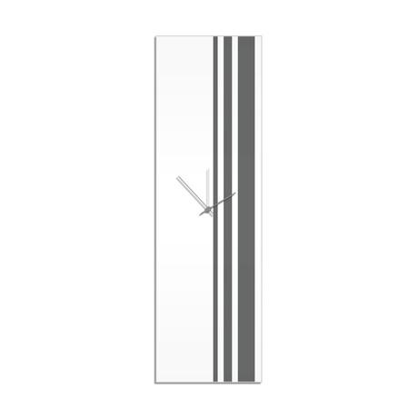 Gray Triple Stripe Clock // Adam Schwoeppe
