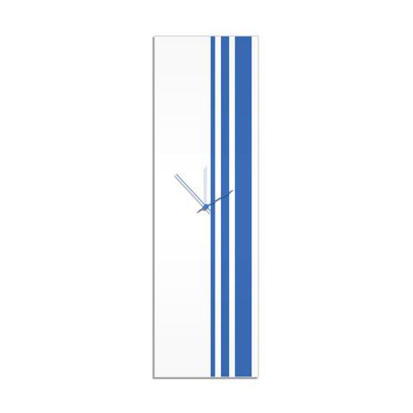 Blue Triple Stripe Clock // Adam Schwoeppe