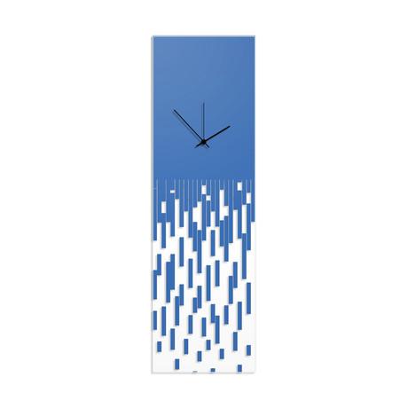 Blue Pixelated Clock // Adam Schwoeppe (Black Hands)
