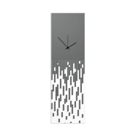 Gray Pixelated Clock // Adam Schwoeppe (Black Hands)