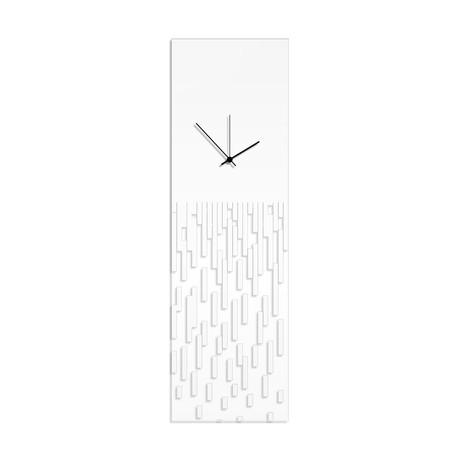 White Pixelated Clock // Adam Schwoeppe (White Hands)