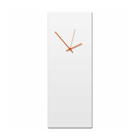Whiteout Clock // Orange Hands (Small)